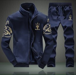 bd47f85b3 Joggers outfits men online shopping - Mens Autumn Sport Tracksuit Luxury  Pattern Print Jogger Sweatsuits Suits