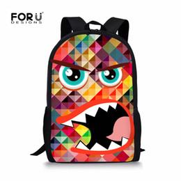 e72649b669 FORUDESIGNS Monster Schoolbag For Teenager Girls Boys Cartoon Emoji  Printing School Bags Kids Fashion Student Leopard Book Bag