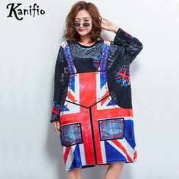9266981401e Kanifio Brand Plus Size Women Casual Loose Dress Ladies Fashion Apron Print  Velvet Dresses Female Tunics Vestidios Femininos 6XL