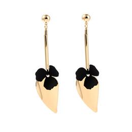 Vintage Copper Hoop Earrings UK - gold hoop Jewelry Accessories Fashion pendiente aro vintage Jewelry Earringhoop earrings women Black gold earrings