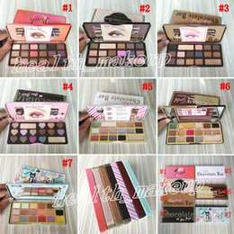 Gold chocolate bars online shopping - Too Face Chocolate Bar Eyeshadow Semi sweet Sweet Peach Bon Bons Palette Color White Eye Shadow Gold Palettes