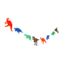 China 15cm Dinosaur Jungle Jurassic DIY Garland Birthday Banner Decorations for Birthday Party Supplies supplier jungle party supplies suppliers