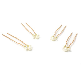 Chinese  Delicate Bridal Accessories Hair Pins For Wedding Pearl And Crystal Simple Bridal Headpieces Lightweight Sweet Hair Adornments manufacturers