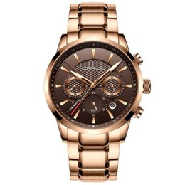solid gold wristwatch 2019 - Top Brand luxury Men Watches Business Wristwatch Time Wrist Watch Solid Steel Strap Sports Clock 30M Waterproof Man Six