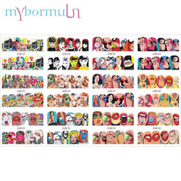 $enCountryForm.capitalKeyWord NZ - Mybormula Mixed 12 Designs Watermark Nail Art Decoration Water Decal Pop cool girl lips Character cartoon scenery Nail Art Wraps