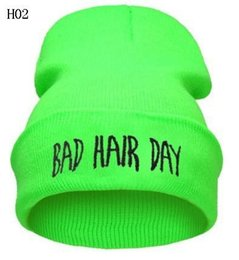 $enCountryForm.capitalKeyWord Australia - Bad Hair Day Beanie hat hiphop Knitted Cap Autumn Winter Men Cotton Warm Hat Solid Color Hip-Hop Wool Hats 12pcs CNY756