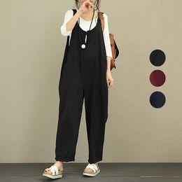 Harem Jumpsuits Women Australia - Newly Women Loose Suspender Long Pants Overalls Harem Trousers Jumpsuits Romper