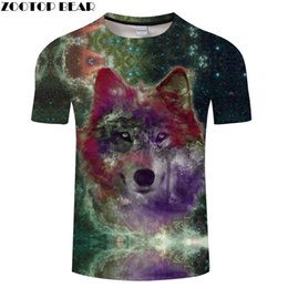 $enCountryForm.capitalKeyWord Australia - Galaxy 3D tshirt Men Women t shirt Wolf t-shirt Harajuku Tee Print Top Streetwear Short Sleeve tee Summer Drop Ship ZOOTOPBEAR