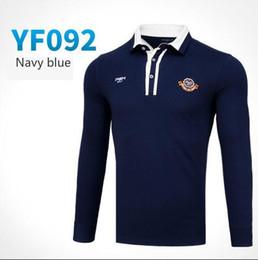 $enCountryForm.capitalKeyWord Australia - PGM autumn winter golf Sportswear apparel men long-sleeved Buon collar Golf T-shirt men breathable comfortable polo Shirt