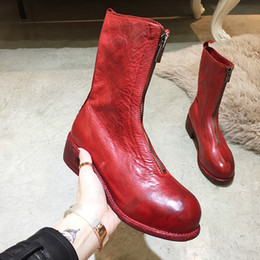 fb4e30b38 Guidi Mid-calf Length Boots Women Leather Guidi Back Zip Boots Guidi Front  Zip Ankle Boots Pl2 Pl1 Solt Horse Leather Shoes