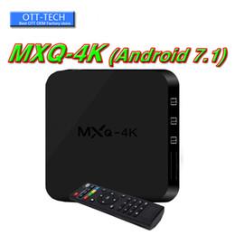 Android Tv Box Full Loaded UK - MXQ PRO MXQ 4K Android 7.1 Quad Core Android TV BOX Rk3229 With App Loaded OTT IPTV Smart TV Boxes