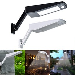 Discount lamp poles - 48 LED Solar Light 900LM LED Wall Lamp PIR Sensor Motion 4 Modes Emergency Lights With Adjustable Pole for Garden Outdoo