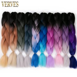expressions synthetic braiding hair UK - Hot selling raiding Hair ombre Two Tone High Temperature Fiber expression braiding hair 100g pcs synthetic braiding hair Extensions