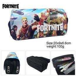 Discount office boxes - Fortnite Battle Royale Anime Pencil Bags Kids Canvas Pen Case Boy Girl Cartoon Pencil Case kids Pencil Box Free DHL 745