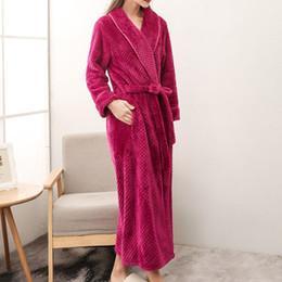 c5236ac720 HOT sale Long Bathrobe Home Wear Clothes Dressing Gown Women s Bathrobe  Coat Female Flannel Nightdress Women Warm Bath Robes