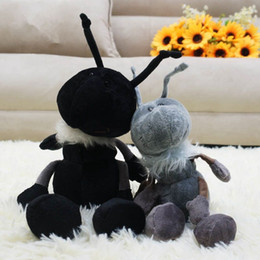 stuffed animal stuffing Canada - 2pcs Lovely Soft Animal Ant Plush Toy Stuffed Anime Nature Porter Ants Doll for Kids Adults Gift Decoration 33cm 23cm