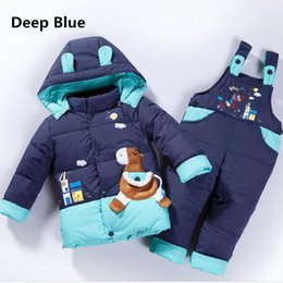 $enCountryForm.capitalKeyWord NZ - Hooded Jacket kids for Newborns Warm Winter Children's Boy Clothing Set Coat+Pant Snow suit baby girl clothes infant overcoat