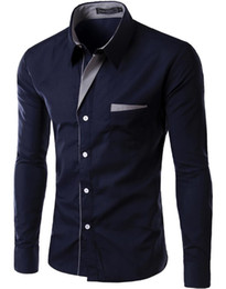 $enCountryForm.capitalKeyWord Australia - New Fashion Long Sleeve Shirt Men Korean Slim Design Formal Casual Male Dress Shirt Free Shipping