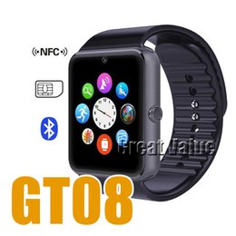 Bluetooth Smart Watch Sim Australia - GT08 Bluetooth Smart Watch with SIM Card Slot and NFC Health Watchs for Android Samsung and iPhone Smartphone Bracelet Smartwatch