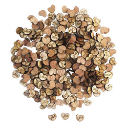 China CEWOR 300 Pcs Rustic Wooden Pattern Love Hearts Shaped Wood Slices Crafts for Wedding Party Ornaments, Christmas Halloween Decor cheap halloween tree decor suppliers