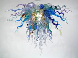 $enCountryForm.capitalKeyWord NZ - Beautiful Pendant Chandelier Light Fixture Dale Italy Chihuly Colorful Glass Art Hanging Lamp 100% Handmade Crystal Light