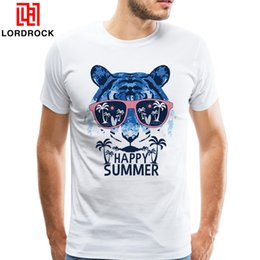 Fashion Design For Man Shirt NZ - 2018 Cheap tiger head print shirt Men Short Sleeves Tiger T Shirts for Adult Cool Fashion Happy Summer Tees Unique Design Tshirt