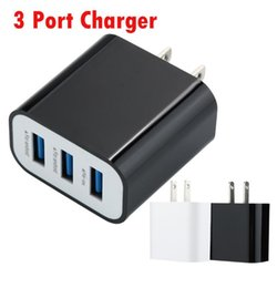 Discount apple charging devices - Smart Universal 5V 3.1A US 3 USB 2.0 Wall Charger Charging For Smartphone PSP Game Device MP4 MP3 Watch PAD