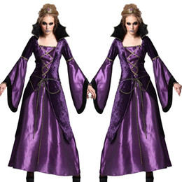 Wholesale halloween witch cosplay for women online – ideas Halloween Witch Costume For Women Adult Party Dress Long Hooded Cloaks Capes Womens Scary Dresses Cosplay Clothes