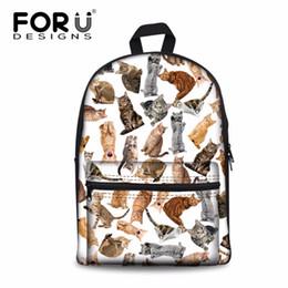 $enCountryForm.capitalKeyWord NZ - Women's Backpack Ladies Animals Prints Back Pack for Females Cats Pattern Cute Rucksack Korean Backpack Mochila