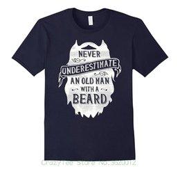 Опт Повседневная Фитнес Мужчины Футболки Мужские Смешные Борода Рубашка-Старик С Бородой Футболка Подарок