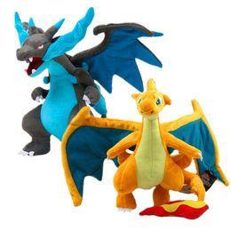 Discount mega x - 23 CM dragon Mega Pocket Monster plush toy Evolution X Y Charizard Pikachu Plush Toys Soft Stuffed Doll Kids Gift
