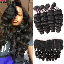 China Hot Brazilian Peruvian Malaysian Indian Loose Wave Ishow 8A Human Hair Extensions 3Bundles With Lace Frontal Cheap Weave Online Wholesale cheap online human hair suppliers