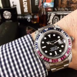 Sub Steel Canada - AAA top luxury brand men sub watch 40mm mobile diamond automatic mechanical watch stainless steel strap wrist watch