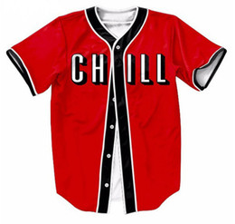 China New hot style red CALL 3D printed cardigan button-down short-sleeved baseball suit suppliers