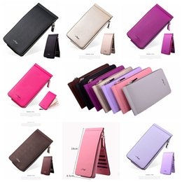 Plain wallet holder online shopping - 8styles Long Wallets casual Purse Clutch Leather Zipper Wallet women Men Business Coin bag Vintage cover fashion Card holder FFA1057