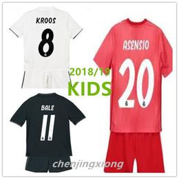 KIDS kit 2018 Real Madrid RONALDO home Away2 awa soccer jersey 2018 2019  BENZEMA SERGIO RAMOS MORATA ISCO ASENSIO BALE football jersey kit a57af635f