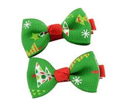 $enCountryForm.capitalKeyWord UK - Christmas Children Bow Hairpin Hair Accessories Hair Ball Clip Fashion Baby Flower Bows headband hairband Kids Girls Accessories