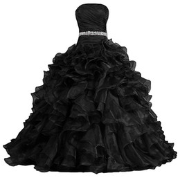 Balls Bra Australia - Women's Pretty Ball Gown Sweetgeart Tull Dress Quinceanera Dress Ruffle Prom Dresses Built-in bra customed Evening dress formal dresses