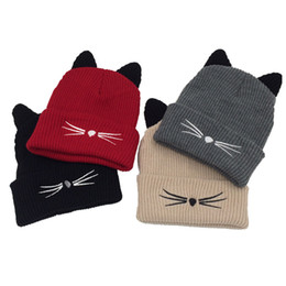 devil cap NZ - Fashion Women Lady Knitting Cap Devil Horns Cat Ear Crochet Hat Braided Winter Keep Warm Beanie Girl Casual Knitted Caps New