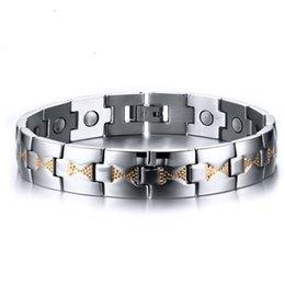 Drop shipping brand new высокое качество мужская нержавеющая сталь браслет Магнит браслеты магнитный камень ювелирные изделия фабрики поставщик 078 на Распродаже