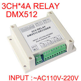 Dmx512 pc controller online shopping - new high quality input AC110V V DMX RELAY channel CH dmx512 relays controller use for led lamp led strip lights