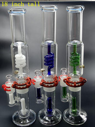 $enCountryForm.capitalKeyWord NZ - 18 Inch Diad Straight Bong with clip Triple Honeycomb Perc Bong 46cmx5mm Glass Water Pipes Percolator Bongs