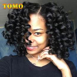 """short ombre hair extensions 2019 - TOMO Wand Curl Hair 8"""" Short Jamaica Bounce Curly Crochet Hair Synthetic Low Temperature Fiber ombre Braiding Hair"""