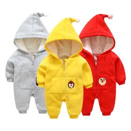 cotton onesies Australia - Kids Clothing New Autumn Winter Thick Warm Baby Onesies Newborn Baby Boy Girl Infant Clothes Jumpsuit Christmas Cotton Hooded Kid Outerwear