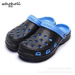 $enCountryForm.capitalKeyWord Canada - WHOHOLL 2018 Summer EVA Clogs Men Slip On Garden Shoes Lightweight Beach Sandals For Men Casual Water Slippers Unisex Shoes