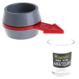 plastic drink glasses wholesale Canada - Spin the Shot Drinking Game Turntable Roulette Glass Spinning Fun Party Home
