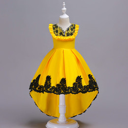 $enCountryForm.capitalKeyWord Canada - 2018 New Arrival Children lotus lace Princess Girls Birthday party dance dress Performance Costume cocktail dress Tulle dress D19