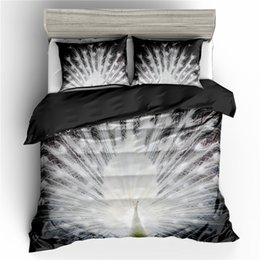 beautiful comforters 2019 - 3D Peacock Bedding Luxury Beautiful Peacock Printed 2 3-Piece(1pc Duvet Cover+1 2pc Pillowcase)No Comforters cheap beaut