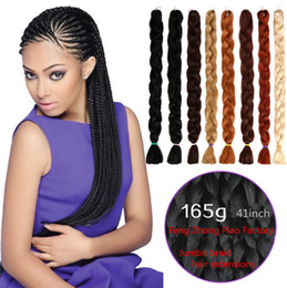 Discount hair 33 - Xpression Synthetic Braiding Hair 82inch 165g 1# 2# 6# 8#...Difference Jumbo braid Hair Extensions Single Color Ultra Br