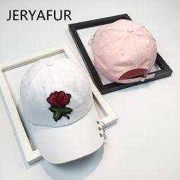 c432b23d4 Baseball Roses Wholesale NZ - 2018 JERYAFUR Female Summer Rose Embroidery  Baseball Cap Leisure Wild Couple